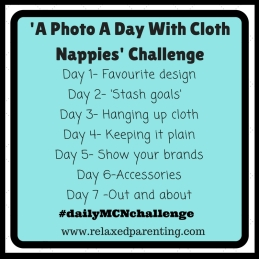 'A Photo A Day With Cloth Nappies' Challenge