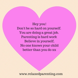 Hey you!Don't be so hard on yourself. You are doing a great job. Parenting is hard work Believe in yourself,No one knows your child better than you do xx